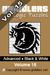 iGridd Bücher - Griddler, Nonogramme, Picross Puzzle. Als PDF herunterladen und drucken - Advanced - Black and White, Vol. 15