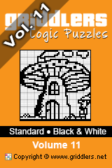 iGridd Books - Griddlers, Nonograms, Picross puzzles. Download PDF and print - Standard - Black and White, Vol. 11