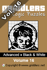 iGridd Bücher - Griddler, Nonogramme, Picross Puzzle. Als PDF herunterladen und drucken - Advanced - Black and White, Vol. 16
