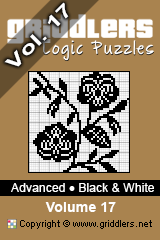 iGridd Books - Griddlers, Nonograms, Picross puzzles. Download PDF and print - Advanced - Black and White, Vol. 17