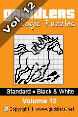 iGridd knjige - Griddlers, Nonograms, Picross uganke. Naložite PDF in natisnite - Standard - Black and White, Vol. 12