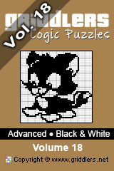 iGridd Bücher - Griddler, Nonogramme, Picross Puzzle. Als PDF herunterladen und drucken - Advanced - Black and White, Vol. 18
