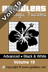 iGridd Bücher - Griddler, Nonogramme, Picross Puzzle. Als PDF herunterladen und drucken - Advanced - Black and White, Vol. 19