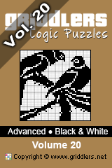 iGridd Books - Griddlers, Nonograms, Picross puzzles. Download PDF and print - Advanced - Black and White, Vol. 20