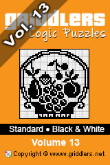 iGridd Books - Griddlers, Nonograms, Picross puzzles. Download PDF and print - Standard - Black and White, Vol. 13