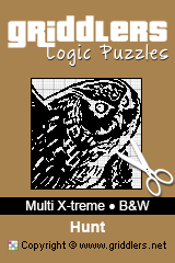 iGridd Books - Griddlers, Nonograms, Picross puzzles. Download PDF and print - Multi X-treme - Black and White, Hunt