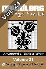 Livros iGridd - Griddlers, Nonograms, Picross puzzles. Faça o download em PDF e imprima - Advanced - Black and White, Vol. 21