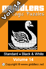 iGridd knjige - Griddlers, Nonograms, Picross uganke. Naložite PDF in natisnite - Standard - Black and White, Vol. 14