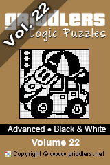 iGridd Books - Griddlers, Nonograms, Picross puzzles. Download PDF and print - Advanced - Black and White, Vol. 22