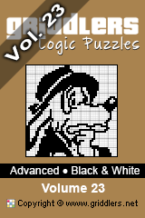 iGridd Bücher - Griddler, Nonogramme, Picross Puzzle. Als PDF herunterladen und drucken - Advanced - Black and White, Vol. 23