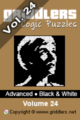iGridd Bücher - Griddler, Nonogramme, Picross Puzzle. Als PDF herunterladen und drucken - Advanced - Black and White, Vol. 24