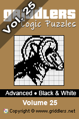 Livros iGridd - Griddlers, Nonograms, Picross puzzles. Faça o download em PDF e imprima - Advanced - Black and White, Vol. 25