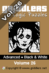 iGridd Bücher - Griddler, Nonogramme, Picross Puzzle. Als PDF herunterladen und drucken - Advanced - Black and White, Vol. 26