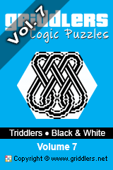 iGridd Books - Griddlers, Nonograms, Picross puzzles. Download PDF and print - Triddlers B&W Vol. 7