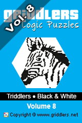 iGridd Books - Griddlers, Nonograms, Picross puzzles. Download PDF and print - Triddlers B&W Vol. 8