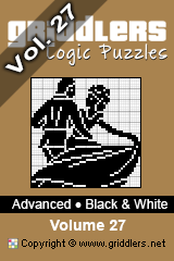 iGridd Bücher - Griddler, Nonogramme, Picross Puzzle. Als PDF herunterladen und drucken - Advanced - Black and White, Vol. 27
