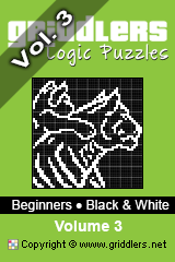 iGridd Books - Griddlers, Nonograms, Picross puzzles. Download PDF and print - Beginners - Black and White, Vol. 3