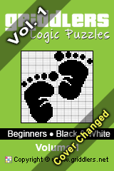iGridd Books - Griddlers, Nonograms, Picross puzzles. Download PDF and print - Beginners - Black and White, Vol. 1
