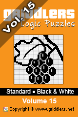 iGridd Books - Griddlers, Nonograms, Picross puzzles. Download PDF and print - Standard - Black and White, Vol. 15