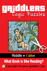 Libros iGridd - Griddlers, Nonogramas, Puzles picross . Descargar PDF e Imprimir - Riddle - What Book is She Reading?