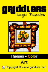 iGridd Books - Griddlers, Nonograms, Picross puzzles. Download PDF and print - Theme - Art, Color