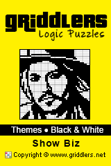 iGridd Books - Griddlers, Nonograms, Picross puzzles. Download PDF and print - Theme - Show Biz, Black and White