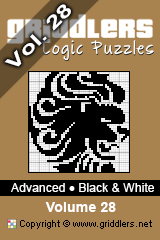 iGridd Bücher - Griddler, Nonogramme, Picross Puzzle. Als PDF herunterladen und drucken - Advanced - Black and White, Vol. 28