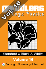 iGridd Books - Griddlers, Nonograms, Picross puzzles. Download PDF and print - Standard - Black and White, Vol. 16