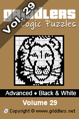 iGridd Bücher - Griddler, Nonogramme, Picross Puzzle. Als PDF herunterladen und drucken - Advanced - Black and White, Vol. 29