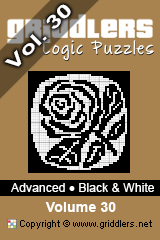iGridd Books - Griddlers, Nonograms, Picross puzzles. Download PDF and print - Advanced - Black and White, Vol. 30