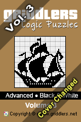iGridd Bücher - Griddler, Nonogramme, Picross Puzzle. Als PDF herunterladen und drucken - Advanced - Black and White, Vol. 3