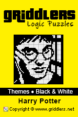 Livros iGridd - Griddlers, Nonograms, Picross puzzles. Faça o download em PDF e imprima - Theme - Harry Potter, Black and White