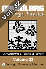 iGridd Books - Griddlers, Nonograms, Picross puzzles. Download PDF and print - Advanced - Black and White, Vol. 32