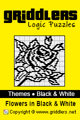 Libri iGridd - Griddlers, Nonogrammi, puzzles Picross. Scarica il PDF e stampa - Theme - Flowers in Black and White