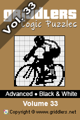 iGridd Books - Griddlers, Nonograms, Picross puzzles. Download PDF and print - Advanced - Black and White Vol. 33