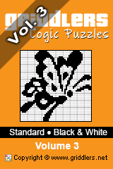 iGridd knjige - Griddlers, Nonograms, Picross uganke. Naložite PDF in natisnite - Standard - Black and White, Vol. 3