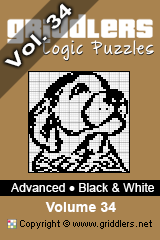 iGridd Books - Griddlers, Nonograms, Picross puzzles. Download PDF and print - Advanced Black and White Vol. 34