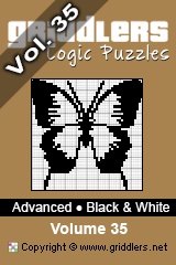 iGridd Books - Griddlers, Nonograms, Picross puzzles. Download PDF and print - Advanced - Black and White Vol. 35