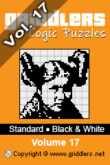 iGridd knjige - Griddlers, Nonograms, Picross uganke. Naložite PDF in natisnite - Standard - Black and White, Vol. 17