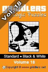 iGridd Books - Griddlers, Nonograms, Picross puzzles. Download PDF and print - Standard- Black and White Vol. 18