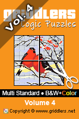 iGridd Books - Griddlers, Nonograms, Picross puzzles. Download PDF and print - Multi Standard - B&W+Color, Vol. 4