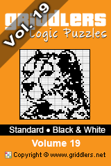 iGridd knjige - Griddlers, Nonograms, Picross uganke. Naložite PDF in natisnite - Standard - Black and White, Vol. 19