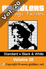 iGridd knjige - Griddlers, Nonograms, Picross uganke. Naložite PDF in natisnite - Standard - Black and White, Vol. 20