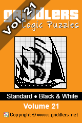 iGridd knjige - Griddlers, Nonograms, Picross uganke. Naložite PDF in natisnite - Standard - Black and White, Vol. 21