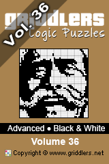 iGridd Books - Griddlers, Nonograms, Picross puzzles. Download PDF and print - Advanced Black and White Vol.36