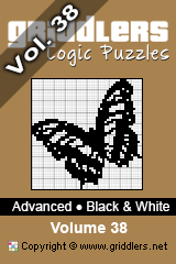 iGridd Books - Griddlers, Nonograms, Picross puzzles. Download PDF and print - Advanced Black and White Vol.38