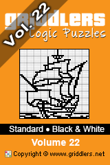 iGridd knjige - Griddlers, Nonograms, Picross uganke. Naložite PDF in natisnite - Standard - Black and White, Vol. 22