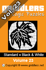 iGridd knjige - Griddlers, Nonograms, Picross uganke. Naložite PDF in natisnite - Standard - Black and White, Vol. 23