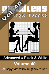 iGridd Books - Griddlers, Nonograms, Picross puzzles. Download PDF and print - Advanced Black and White Vol.40