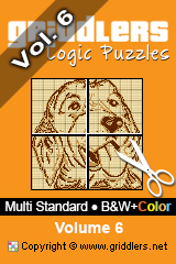 iGridd Books - Griddlers, Nonograms, Picross puzzles. Download PDF and print - Multi Standard - B&W+Color, Vol. 6